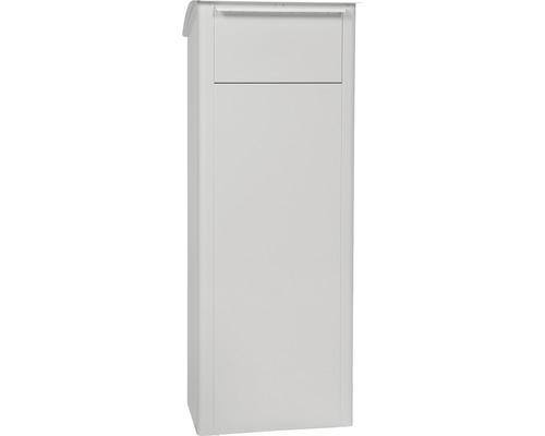Boîte à colis MEFA en acier revêtu par poudre lxhxp 409/1021/326 mm Beech 458 blanc signalisation RAL 9016 retrait par l''arrière