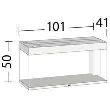 Aquarium JUWEL Rio 180 avec éclairage à LED, pompe, filtre, chauffage sans meuble bas blanc-thumb-4