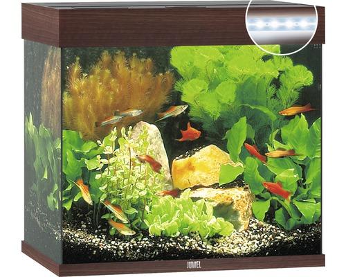 Aquarium Juwel Lido 120 LED sans meuble bas bois foncé