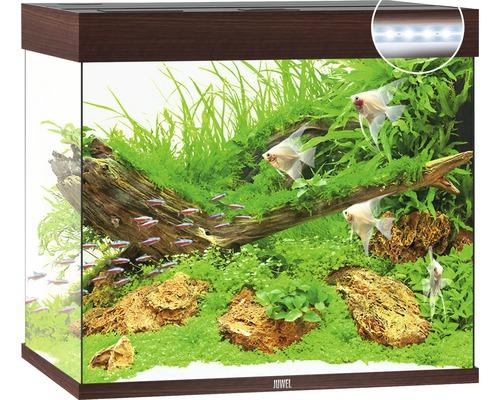 Aquarium Juwel Lido 200 LED sans meuble bas bois foncé
