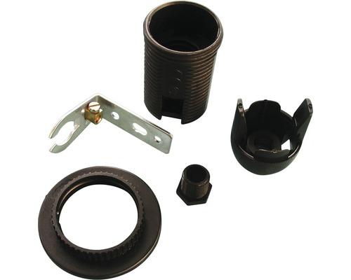 Douille d''angle avec filetage extérieur E14 noir