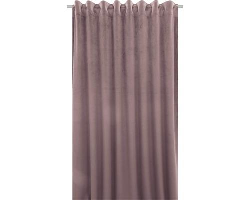 Rideau avec galon fronceur Velvet rose 140x280 cm