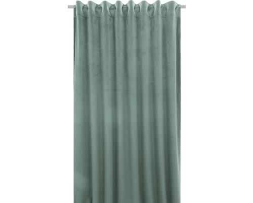 Rideau avec galon fronceur Velvet menthe 140x280 cm
