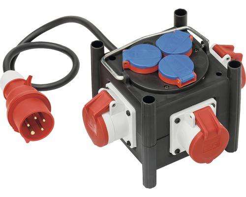 Brennenstuhl Kompakter Gummi Stromverteiler BSV IP44 3x CEE 400V 3x 230V H07RN-F 5G1,5
