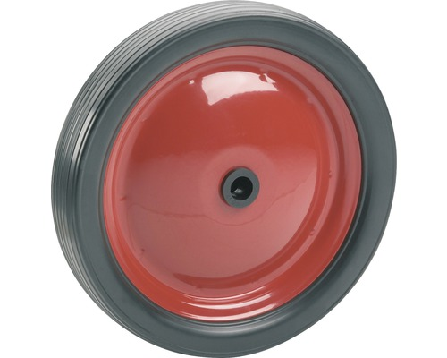 Roue PVC Tarrox sur jante métallique jusqu'à 15kg. 130x21x12mm, moyeu 34-0