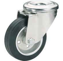 Roulette pivotante Tarrox 100x30mm avec pneus pleins en caoutchouc jusqu'à 75kg-thumb-0