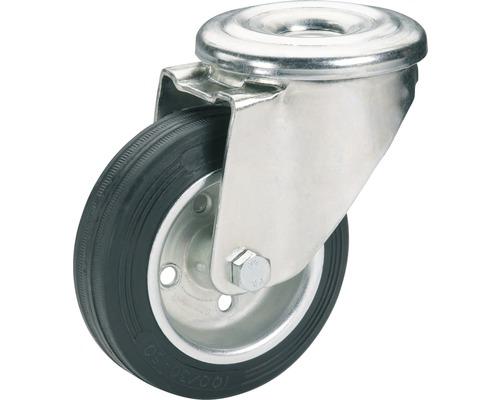 Roulette pivotante Tarrox 100x30mm avec pneus pleins en caoutchouc jusqu'à 75kg-0
