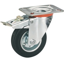 Roulette pivotante Tarrox 200x50mm avec pneus pleins en caoutchouc jusqu'à 210kg, dimensions du plateau 140x80mm-thumb-0