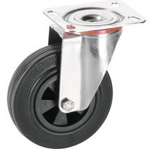 Roulette pivotante Tarrox V2A 160x40mm avec pneus pleins en caoutchouc jusqu'à 120kg, dimensions du plateau 140x80mm-thumb-0