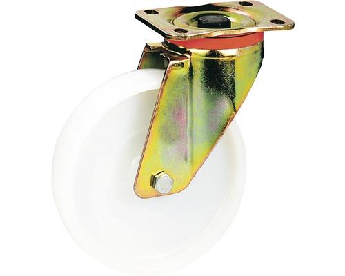 Roulette pivotante pour charges lourdes Tarrox 125x50mm avec roue polyamide jusqu'à 700kg, dimensions du plateau 100x85mm-0