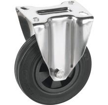 Roulette fixe Tarrox 80x30mm avec pneus pleins en caoutchouc jusqu'à 40kg, dimensions du plateau 100x85mm-thumb-0