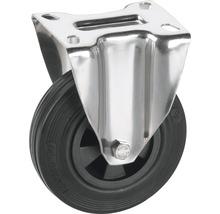 Roulette fixe Tarrox 100x30mm avec pneus pleins en caoutchouc jusqu'à 60kg, dimensions du plateau 100x85mm-thumb-0