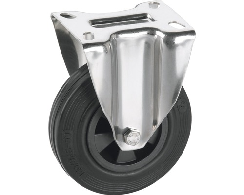Roulette fixe Tarrox 100x30mm avec pneus pleins en caoutchouc jusqu'à 60kg, dimensions du plateau 100x85mm-0