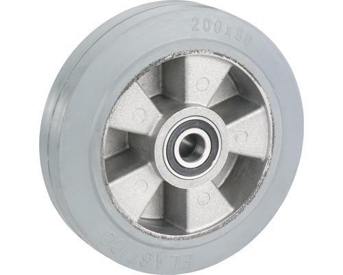 Roue pour charges lourdes Tarrox avec jante aluminium et pneus pleins en caoutchouc 200x50x25mm jusqu'à 400kg-0
