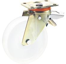Roulette pivotante pour charges lourdes Tarrox blocable, 200x50 mm jusqu'à 750 kg, taille de la plaque 140x110 mm-thumb-0