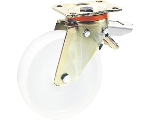 Roulette pivotante pour charges lourdes Tarrox blocable, 200x50 mm jusqu'à 750 kg, taille de la plaque 140x110 mm-0