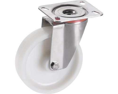 Roulette pivotante en polyamide Tarrox 100x30mm jusqu'à 150kg, dimensions du plateau 100x85mm-0
