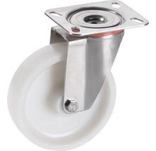 Roulette pivotante en polyamide Tarrox 150x40mm jusqu'à 300kg, dimensions du plateau 140x110mm-thumb-0