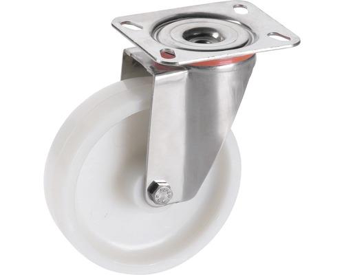 Roulette pivotante en polyamide Tarrox 150x40mm jusqu'à 300kg, dimensions du plateau 140x110mm-0