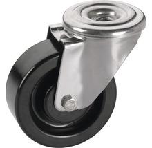 Roulette pivotante en résine phénolique Tarrox 125x35mm jusqu'à 200kg, résistante à la chaleur jusqu'à 250°C-thumb-0