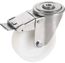 Roulette pivotante Tarrox blocable polyamide 100x30 mm jusqu''à 150 kg-thumb-0