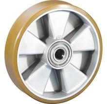 Roue pour charges lourdes Tarrox avec jante aluminium et surface de roulement PU, jusqu'à 850kg 200x50x20mm-thumb-0