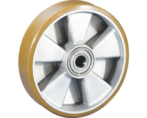 Roue pour charges lourdes Tarrox avec jante aluminium et surface de roulement PU, jusqu'à 850kg 200x50x20mm-0
