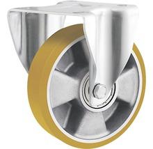 Roulette fixe pour charges lourdes Tarrox ECO avec jante aluminium et surface de roulement PU 200x50mm, jusqu'à 700kg, dimensions du plateau 137x105mm-thumb-0