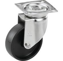 Roulette pivotante pour appareils Tarrox en acier inoxydable jusqu'à 60kg, 100x24mm, dimensions du plateau 60x60mm-thumb-0