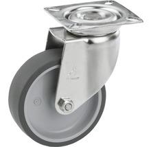 Roulette pivotante pour appareils Tarrox en acier inoxydable jusqu'à 55kg, 100x24mm, dimensions du plateau 60x60mm-thumb-0