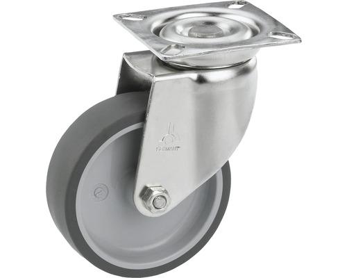 Roulette pivotante pour appareils Tarrox en acier inoxydable jusqu'à 55kg, 100x24mm, dimensions du plateau 60x60mm-0