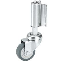 Roulette pour échelle TPE Tarrox 50x18mm, élastique et dirigeable, dimensions du plateau 60x48mm-thumb-0