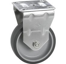 Roulette fixe pour appareils Tarrox en acier inoxydable jusqu'à 50kg, 75x24mm, dimensions du plateau 67x60mm-thumb-0