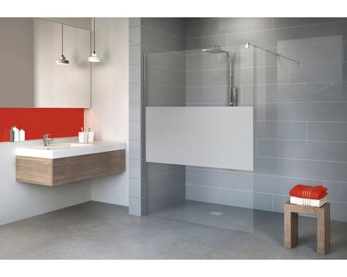 Paroi de douche à l''italienne Schulte Alexa Style 2.0 largeur 90 cm décor discret couleur du profilé chrome