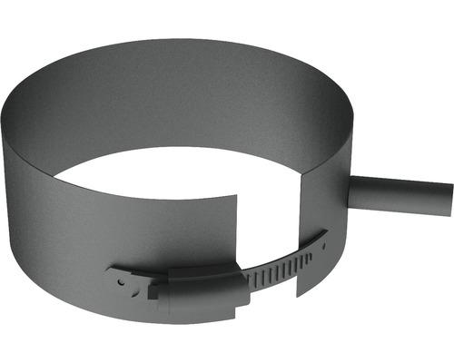 Pellet-Line Befestigungsschelle mit Gewindemuffe M8 Ø 80mm grau