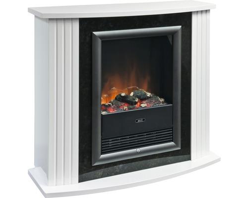 Feu de cheminée électrique EWT Mozart de Luxe White 2000watts IP20