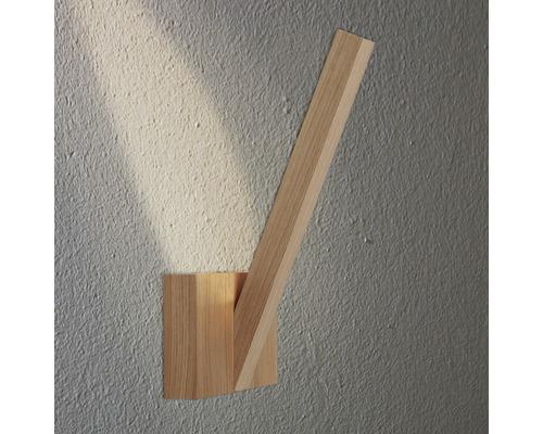 Applique murale LED 3W 280lm 3000K blanc chaud Linus chêne/huilé H 310mm