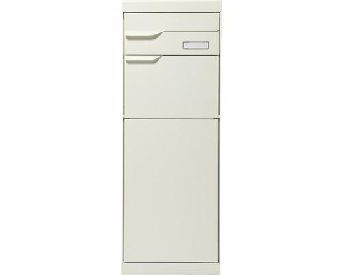 Boîte à colis MEFA en acier revêtu par poudre lxhxp 402/1094/310 mm Etna 772 blanc gris RAL 9002 retrait par l'arrière 2 niveaux avec porte-nom