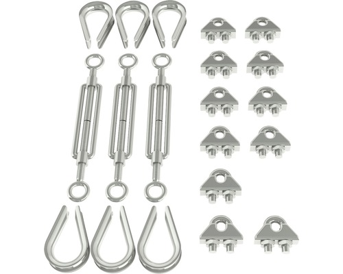 Kit de fixation pour collier de serrage à 3 points Jeremias DW-ECO