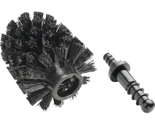 Tête de rechange de brosse noire Ø8cm avec adaptateur pour série Astera, Collection, Brasil et Barock réf. 19786100