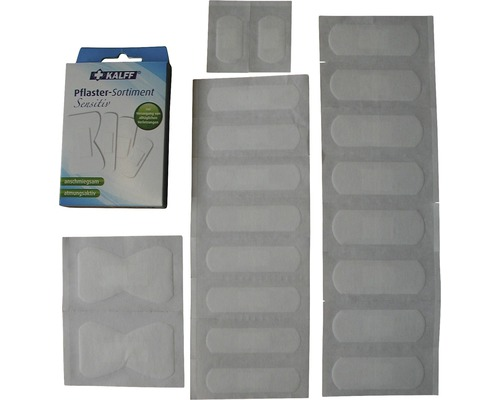 Assortiment de pansements pour peaux sensibles 20pcs