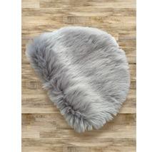 Galette de chaise fourrure gris Ø 35 cm-thumb-1