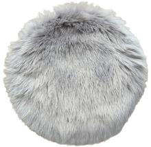 Galette de chaise fourrure gris Ø 35 cm-thumb-0