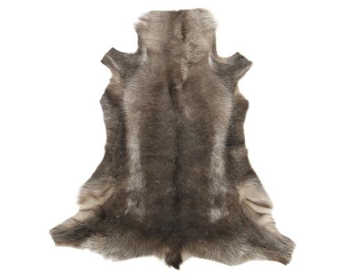Fourrure de renne gris/ marron 90x75 cm
