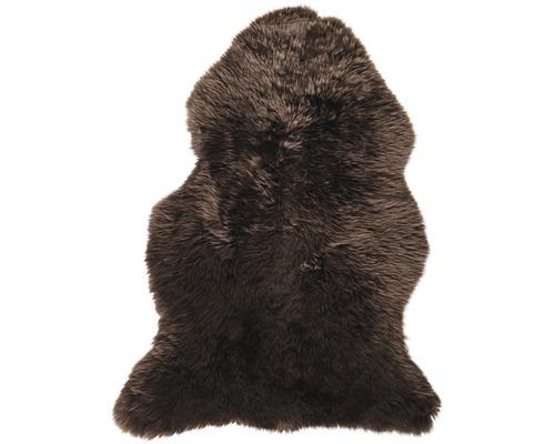 Peau de mouton marron foncé 100x70 cm