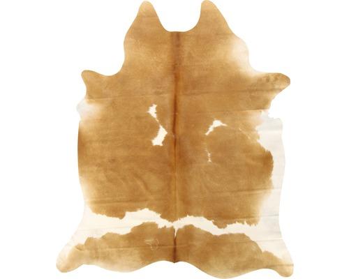 Peau de vache marron et blanc 200x150 cm