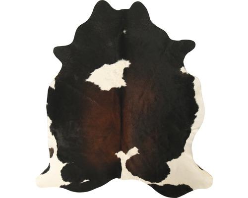 Peaux de vache marron foncé 200x150 cm