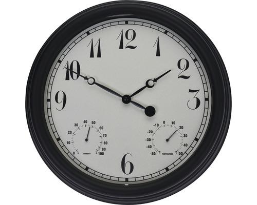 Horloge murale Outdoor noir Ø 38 cm
