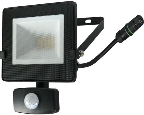 Capteur projecteur LED IP54 10W 800lm 4.000K blanc neutre h 180mm noir