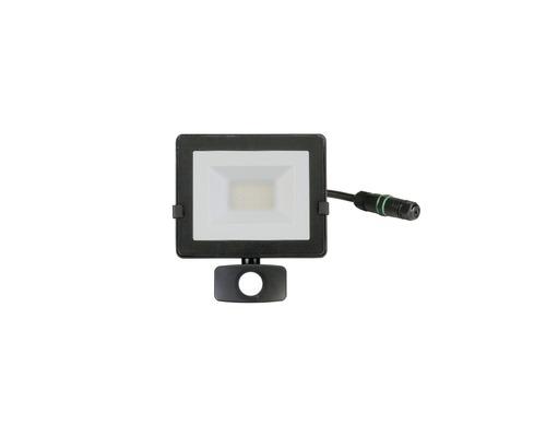 Capteur projecteur LED IP54 20W 1.600lm 4.000K blanc neutre h 190mm noir